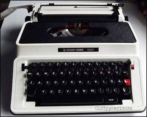 Silver-Reed 500  vintage typewriter working very by OldTypewriters