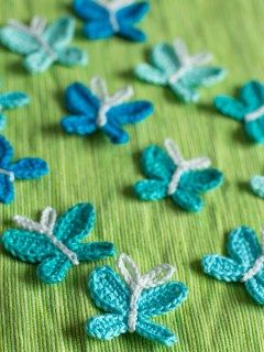 Beautiful Butterfly crochet applique -- free crochet pattern as download