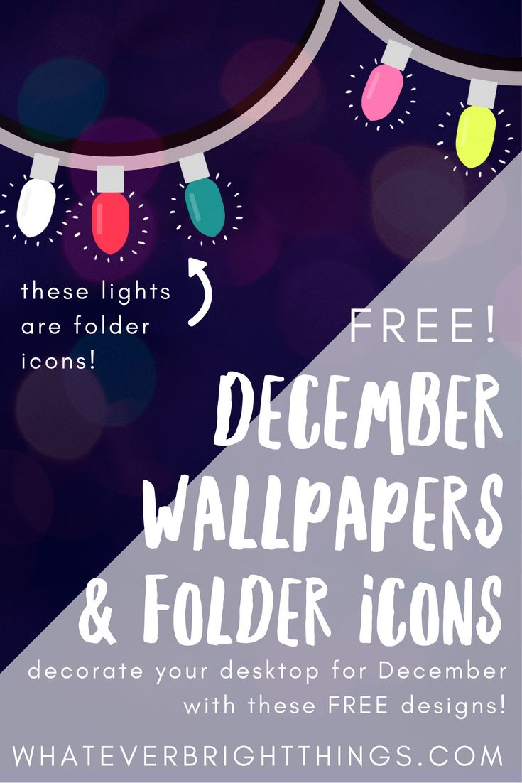 Decorate your Desktop for December with these FREE Wallpapers & Folder Icons designs! Whether you're looking for a December 2016 Calendar Wallpapers or a Festive Christmas Wallpaper for your computer, you'll love these designs!