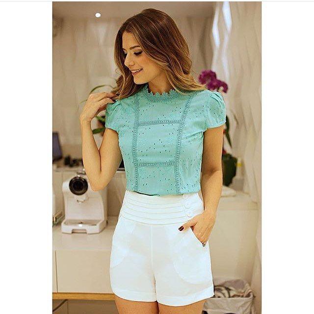 Mais um look lindo Blusa laise Daisy lace R$139,00 Tam P(38) M(40) G(42) Shorts…