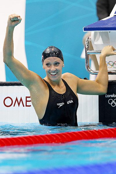 Dana Vollmer sets world record