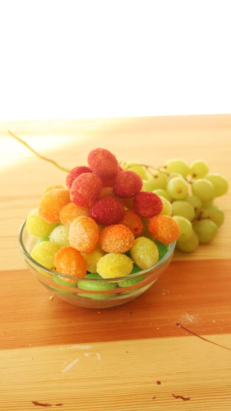 Rainbow Grapes [Video] Recipe in 2020 Candied grapes