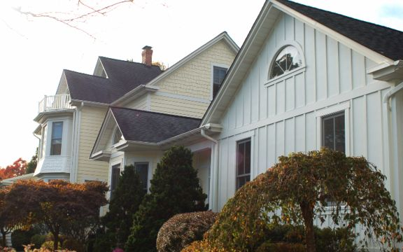 James Hardie Board And Batten Siding In Arctic White Was