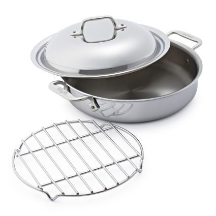 All Clad D3 Stainless Steel Sear And Steam 3 Qt