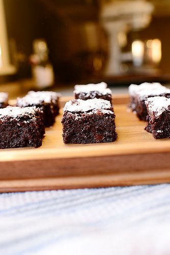 Dark Chocolate Brownies. Those ambivalent about chocolate need not apply. These are for the serious chocoholics in the world!