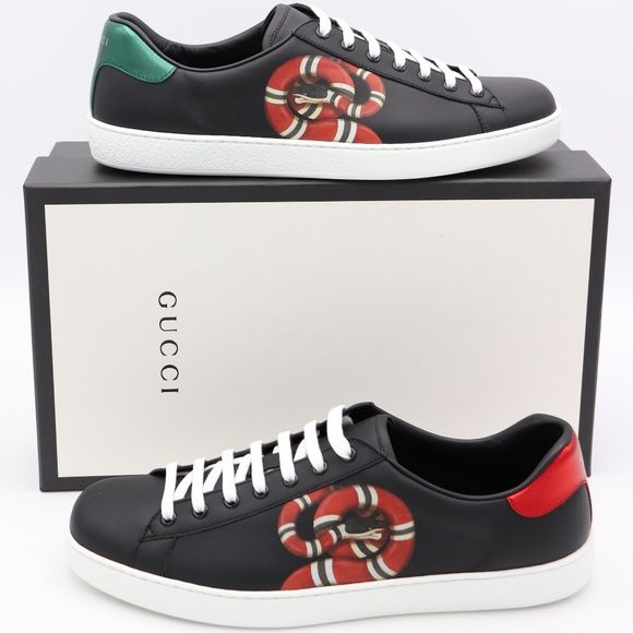 GUCCI Ace Kingsnake Print Sneakers
