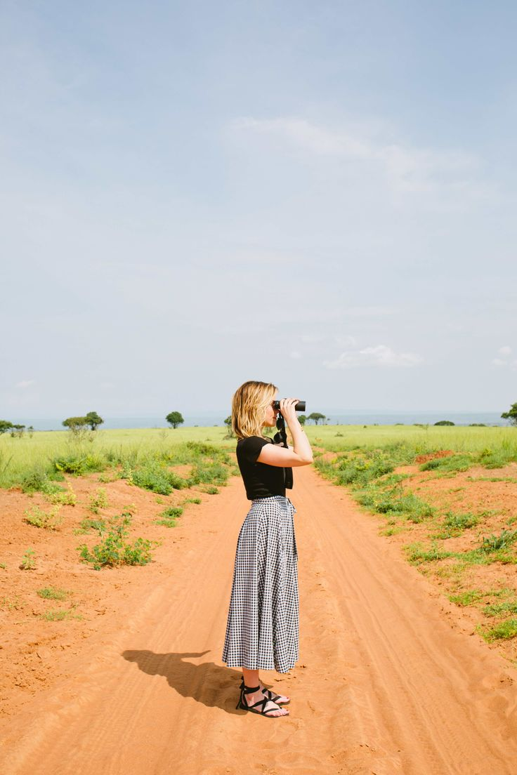 Sophia Bush and Sseko Designs in Uganda. Featuring the Black Ribbon Sandals. #ssekostyle