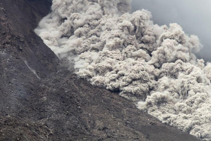 Mount Sinabung Volcano Eruption. Sumatra, Indonesia
