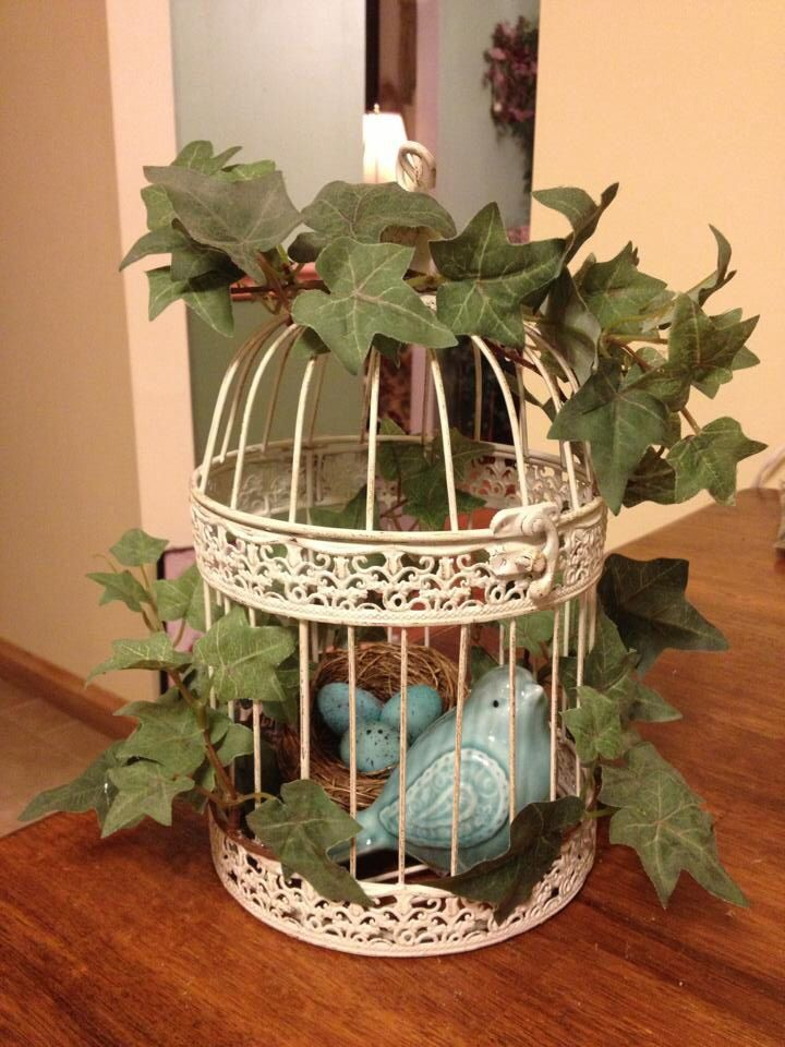 Bird cage decoration my creative crafty ideas for Artificial birds for decoration