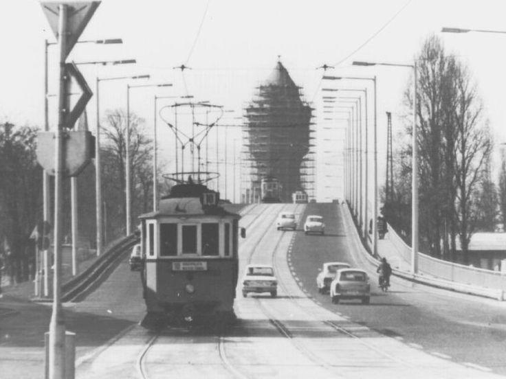 Budapest, 1970s. Arpad ut overpass.