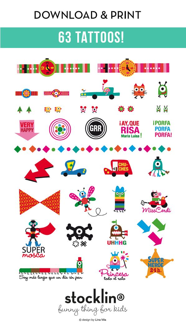 Stocklina: Download and print Tattoos