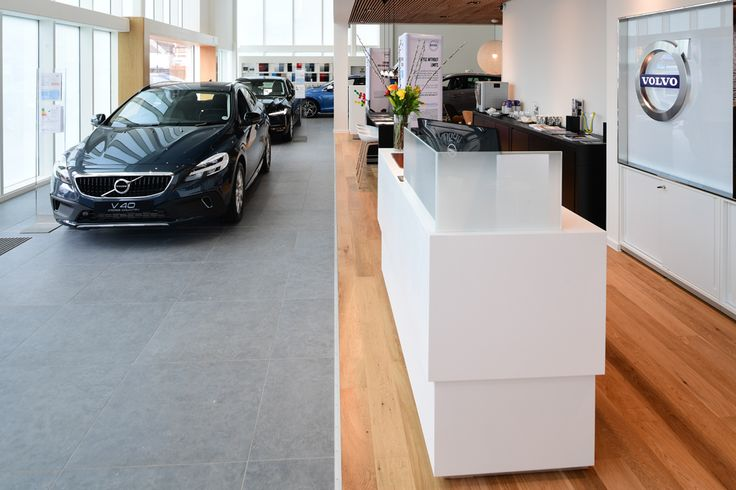 Minoli Tiles - Volvo Dealership -  Minoli Tiles also works with automotive showrooms, such as Volvo which was designed with Volvo C-Stone, a mid-grey limestone look porcelain tile. https://www.minoli.co.uk/car-showrooms/volvo/ - #Minoli #minolitiles #porcelain #tile #porcelaintile #tiles #porcelaintiles #stoneeffect #limestoneeffect #stonelook #volvo #dealership #big #midgrey #gray #cstone #carshowroom #showroom #uk