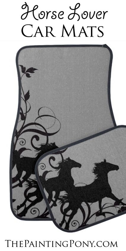 Equestrian Car Floor Mats - style for the horse lover car and truck! These floor mats are so much for for anyone who loves horses and ponies and horseback riding! Perfect sweet 16 birthday gift for the horse lover who just got a new car too!