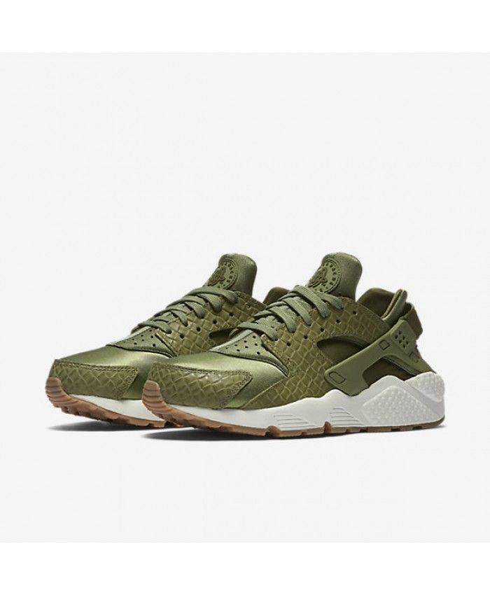 Nike Air Huarache Premium Palm Green/Sail/Gum Medium Brown/Legion Green Womens Shoes & Trainers Sale