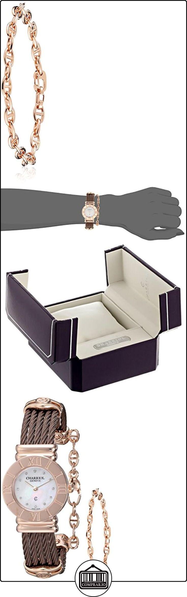 Charriol St-Tropez Women's 24mm Brown Steel Bracelet & Case Watch 028RP.543.326  ✿ Relojes para mujer - (Lujo) ✿