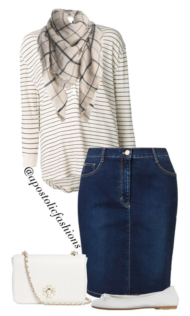 """""""Apostolic Fashions #1048"""" by apostolicfashions ❤ liked on Polyvore featuring The Great, Betty Barclay, DIENNEG, Tory Burch, women's clothing, women's fashion, women, female, woman and misses"""