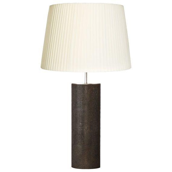 Tonneau Faux Shagreen Table Lamp