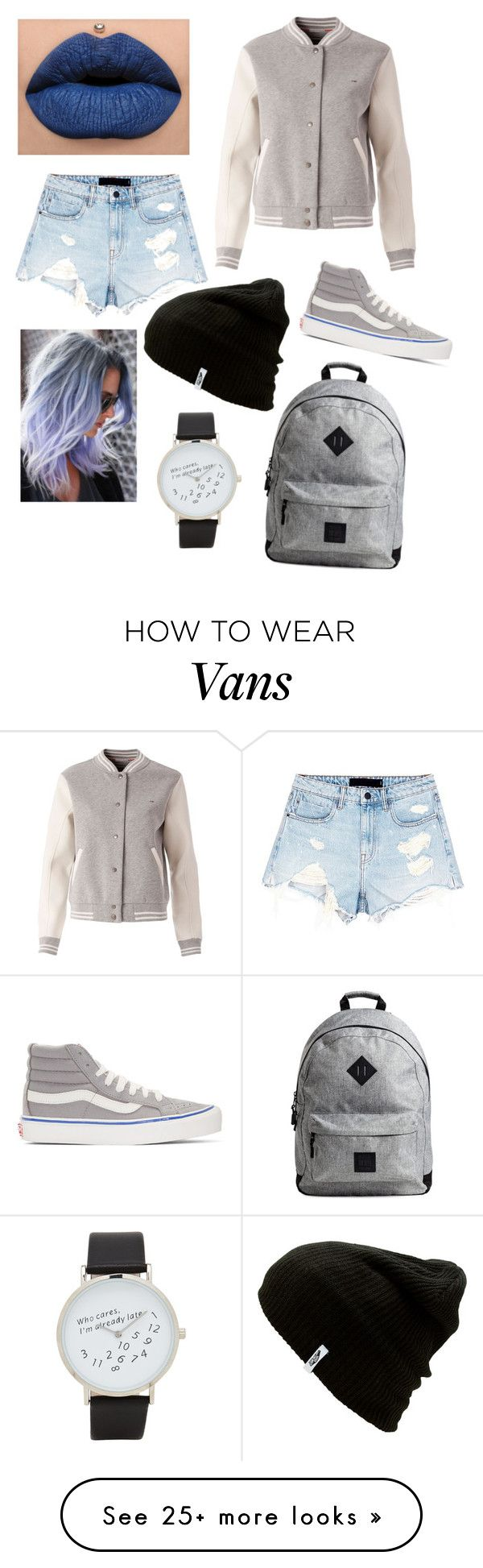 """""""I just wanted to use a pastel hair"""" by midnightsun0706 on Polyvore featuring Vans, Alexander Wang, Tommy Hilfiger and ALDO"""