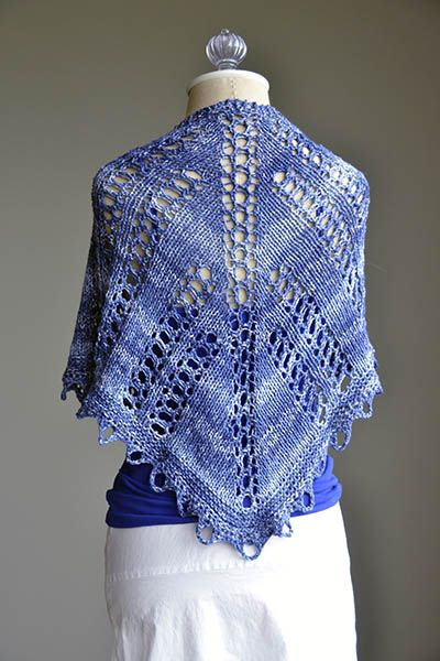 Free Knitting Patterns Dk Yarn : Free knitting pattern - High Tide Shawlette in Cotton Supreme DK Seaspray F...