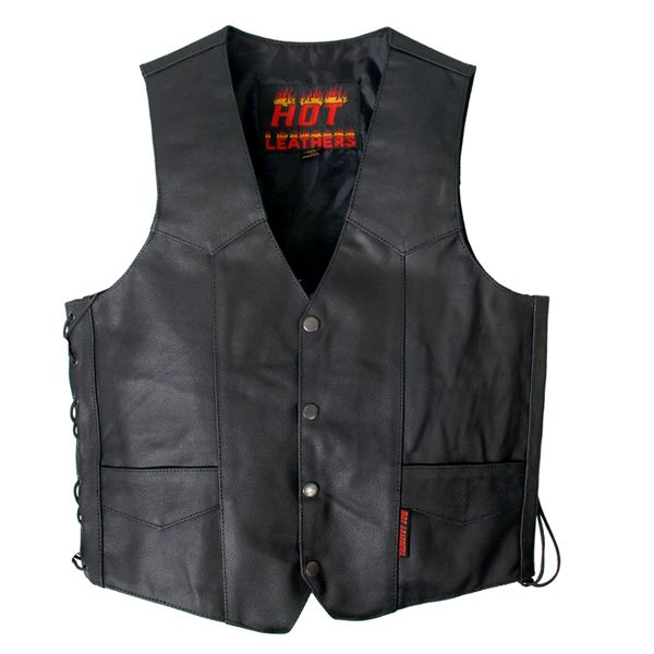 #HotLeathers Hot Leathers Mens Heavyweight Leather Vest