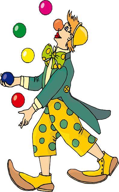 Image gratuite sur Pixabay - Cirque, Clown, Rire, Jonglerie