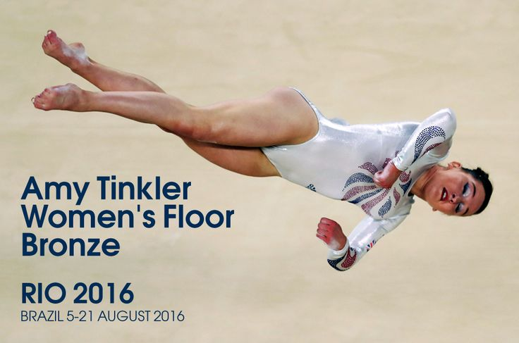 Great Britain's Amy Tinkler won Olympic bronze in the women's floor