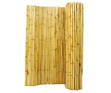4 ft H x 8 ft W x 1 in D Natural Rolled Bamboo Garden Fence, Bamboo Trellises