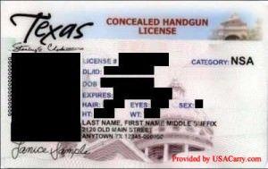 Texas Concealed Handgun License