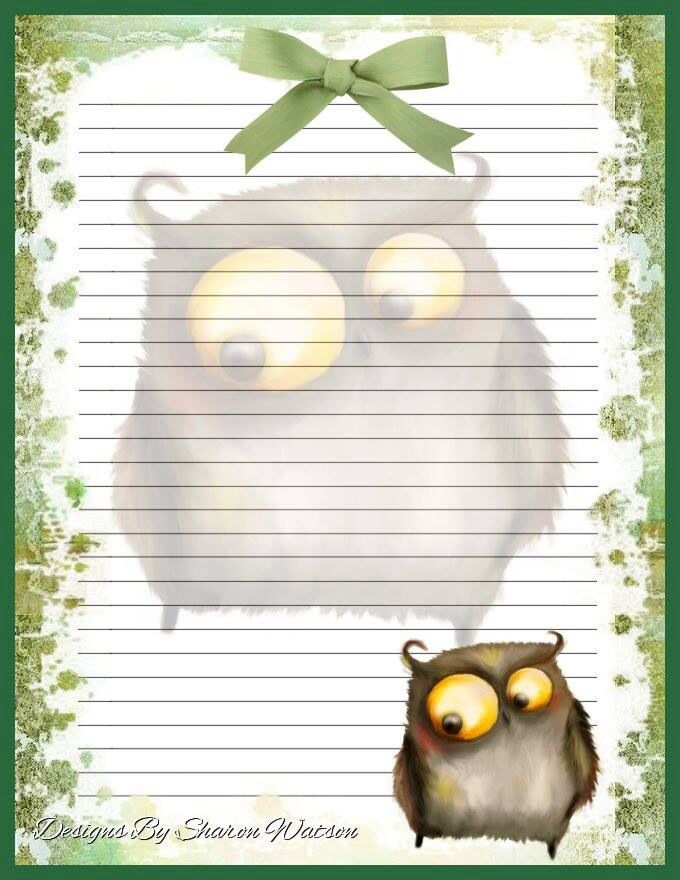 .Funky Owl Stationary