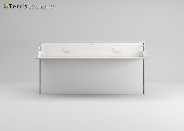 Cama abatible horizontal fondo 35 cm con escritorio - Sinfonier blanco conforama ...