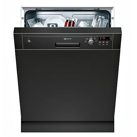 Buy Neff S41E50S0GB Semi-Integrated Dishwasher, Black Online at johnlewis.com