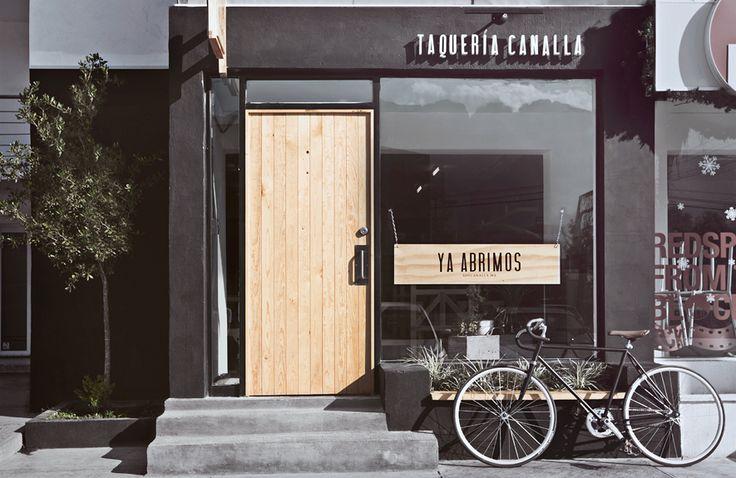 Manifiesto Futura design firm Taqueria Canalla San Pedro Branding Identity Interiors via MStetson Design