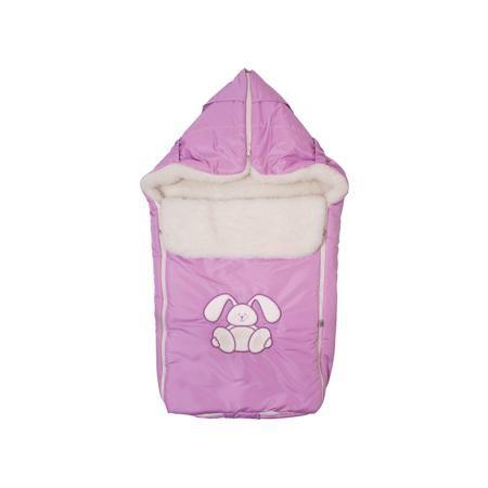 """Сонный гномик Конверт меховой Зайчик, Сонный гномик, розовый  — 1790р.  Меховой конверт """"Зайчик"""" - красивый и практичный вариант для холодной погоды. Верх из специальной синтетической ткани Dewspa, защищает малыша от дождя и ветра. Подкладка представляет собой счёс из натуральной овечьей шерсти на синтетическом основании, поэтому, конверт очень легкий и теплый. Теплосберегающая мембрана Shelter, дополнительный клапан для защиты от ветра и удобная конструкция на двух застежках-молниях…"""