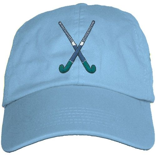 "Field Hockey Sticks Field Hockey Sticks ""Blue"" Hat IN WHITE need light colored hat for spring/summer/beach"