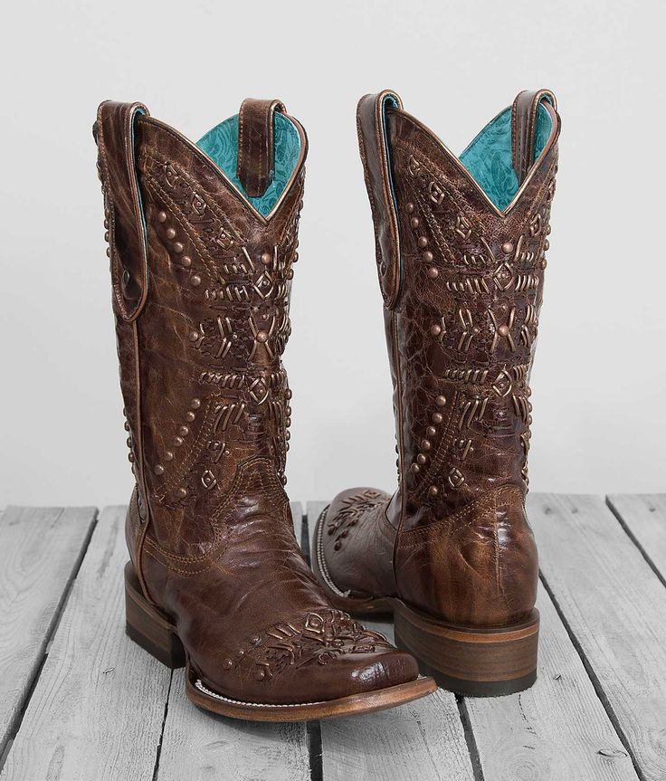 Corral Women's Studded Square Toe Cowboy Boot C2918