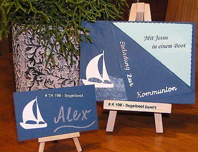 Einladung / Danksagung Kommunion Konfirmation SCHIFF BOOT Fotokarton, Papier