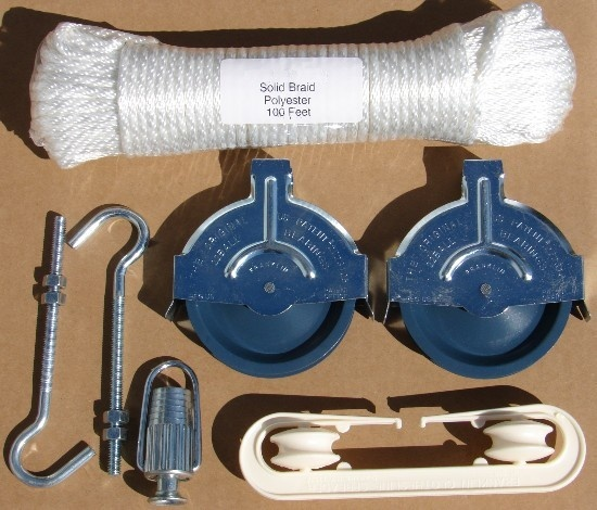 Urban Clothes Lines Pulley Clothesline Kit Bolts