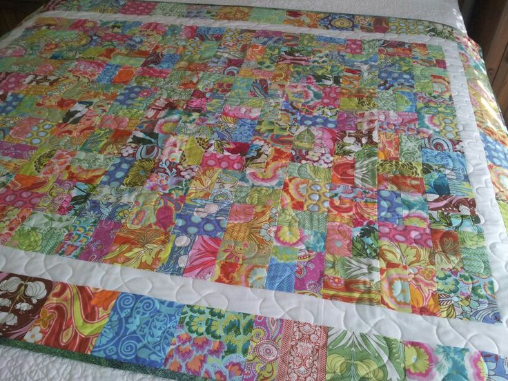 21st present .. I made this  quilt using Amy Butler's Soul Blossom fabrics.