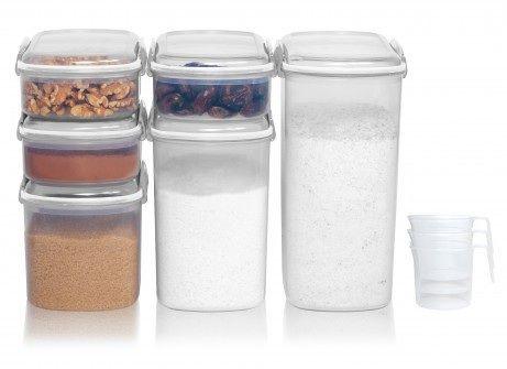 Plastbehållare, BAKERY, 6st i olika storlekar
