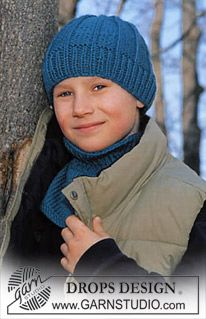 DROPS Children 12-25 - Knitted DROPS Hat and neck warmer in Alaska - Free pattern by DROPS Design