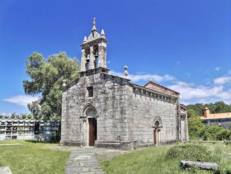 Cereixo, municipio de Vimianzo, A Coruña - Iglesia románica de Santiago