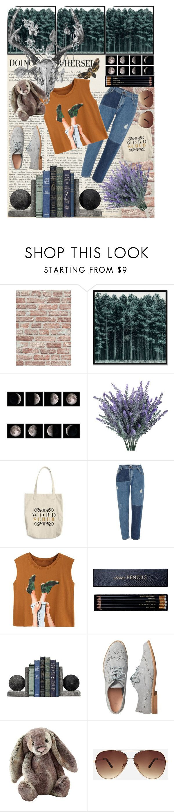 """""""City Nymph"""" by lilmrsmocha ❤ liked on Polyvore featuring West Elm, River Island, Sloane Stationery, Gap, Jellycat and Ashley Stewart"""