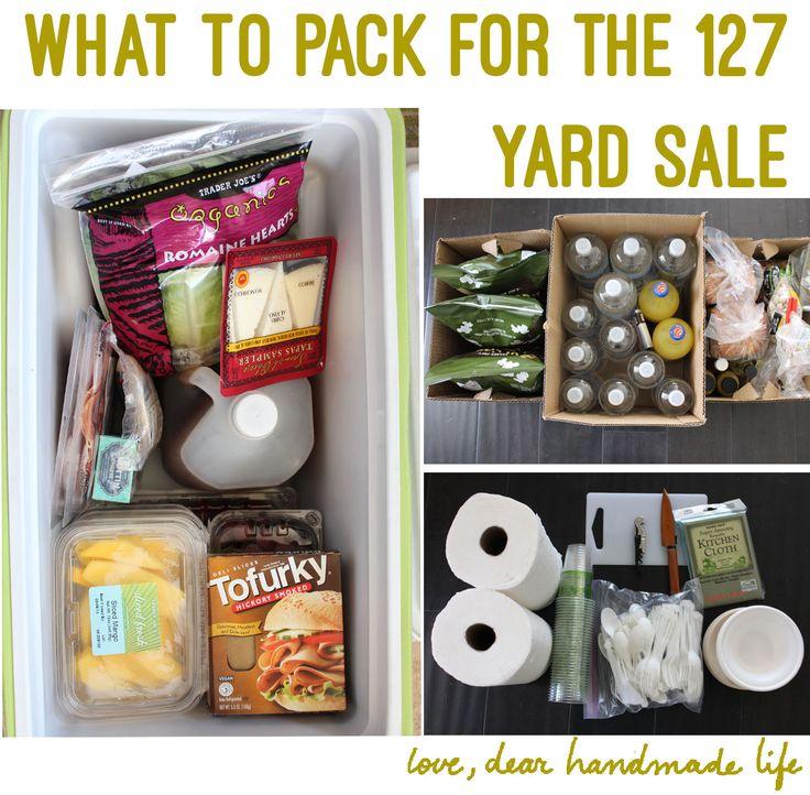 How to Prepare for the 127 Yard Sale - Dear Handmade LIfe