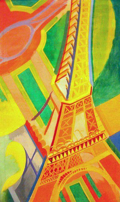 Sonia Delaunay Eiffel Tower Paris