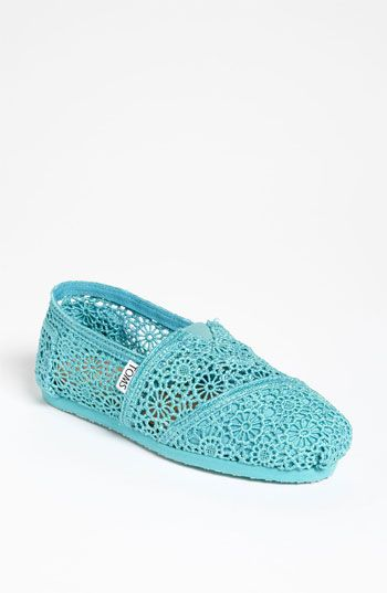 TOMS 'Classic' Crochet Slip-On (Women) (Exclusive Color) available at #Nordstrom