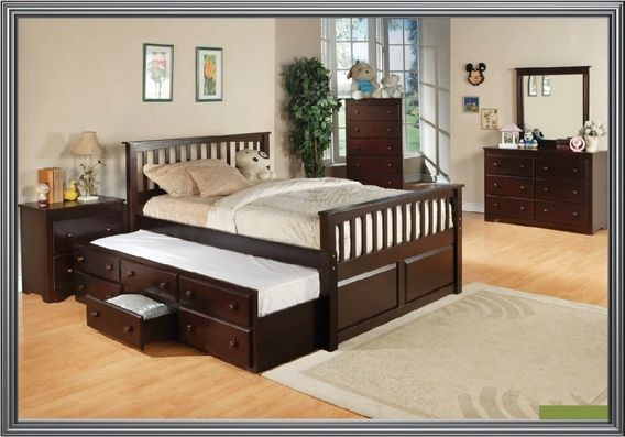 Best Jennifer Espresso Finish Wood Mission Style Full Size Day 640 x 480