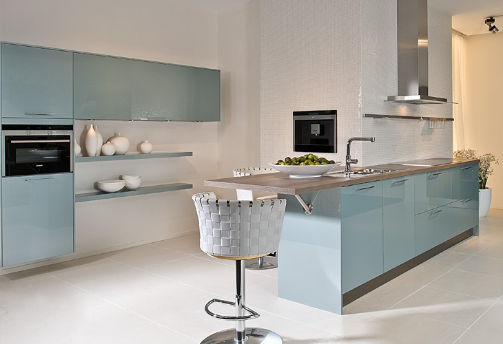 13 best Hellblaue Küchen images on Pinterest | Light blue kitchens ...
