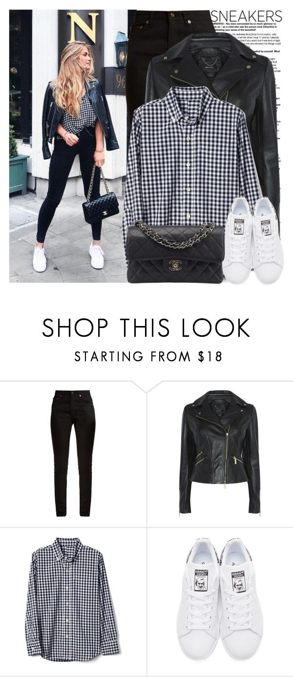 """""""So Fresh: White Sneakers"""" by martinabb on Polyvore featuring Yves Saint Laurent, adidas Originals and Chanel"""