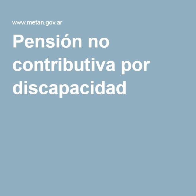 Pensión no contributiva por discapacidad