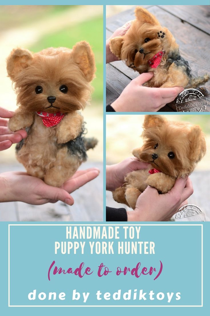 yorkshire terrier puppy yorkie doggies .  Handmade toys Possible to order . Price $ 210 more detailed description you can find at our store etsy